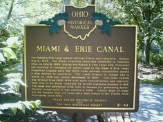 Providence, OH (Lucas Co.) - Ohio Historical Marker # 31 - 48 near the Miami & Erie Canal in Providence Metropark.