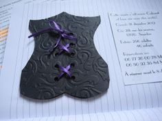 template for corset card