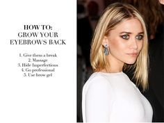 Ashley Olsen looks AMAZING!!!! Oh & some tips for fuller eyebrows.... No more razors to ur eyes please ladies & leave the sharpies @ the office!!