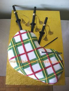 bagpipe cake...I MUST make this for Rick!