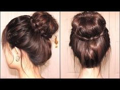 Braided Tips Sock Bun... I'm currently fascinated by sock buns...