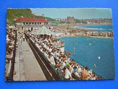 Postcard South Bay Bathing Pool Scarborough Vintage 60's? Unused | eBay