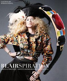 Headband inspired by Pirates & Princesses in Harper's Bazaar Malaysia December 2015