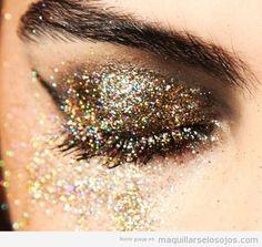 purpurina maquillaje llamativo - Buscar con Google