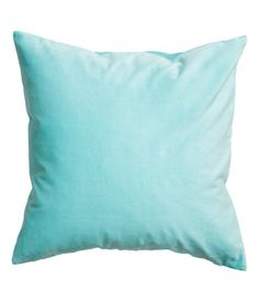Light turquoise. Cushion cover in cotton velvet. Concealed zip at lower edge.