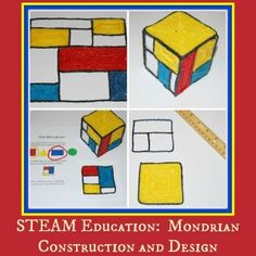 STEAM Education for Kids:  Mondrian Construction and Design #STEAM #STEM #ArtEducation #Mondrian