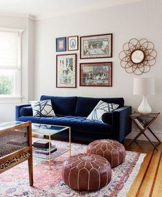 Best living room sofa ideas apartments blue velvet ideas – Home - Living Room Blue Velvet Sofa Living Room, Navy Blue Living Room, Boho Living Room, Living Room Sofa, Living Room Interior, Blue Sofas, Living Room Ideas Navy Sofa, Navy Blue Velvet Sofa, Navy Blue Couches