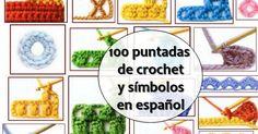 crochelinhasagulhas: 100 Pontos de crochê e símbolos em espanhol