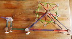 Tinkertoy spindle wheel tutorial | String Geekery
