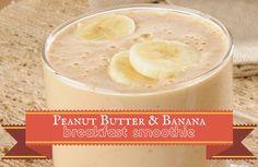 Peanut butter Banana Breakfast smoothie Recipe via @SparkPeople
