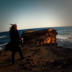 """#ThrowbackThursday to Shakespeare Republic Season One with a behind-the-scenes shot from Sally McLean's episode performing """"Sonnet 18"""" against the incredible backdrop of the sunset over the ocean. If you want to see Shakespeare Republic on a screen bigger than your computer or smartphone, don't forget that we're part of the lineup at this year's @melbwebfest in their """"Spotlight On Melbourne"""" screenings taking place on Thursday, June 30th at Loop Bar in Melbourne from 6pm! See you there… Shakespeare, Lineup, Sally, Spotlight, 30th, Don't Forget, Melbourne, Thursday"""