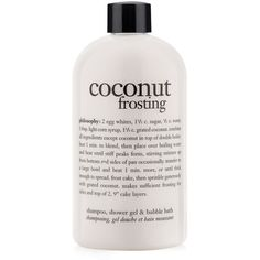 Philosophy  Coconut Frosting Shower Gel (250 ZAR) ❤ liked on Polyvore featuring beauty products, bath & body products, body cleansers, beauty, filler and bubble bath