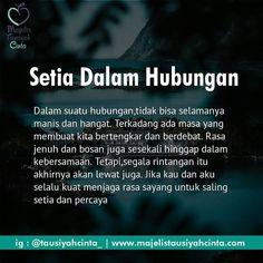 Setia dalam hubungan.. . . . Follow @cintazakat Follow @cintazakat . . https://ift.tt/2f12zSN