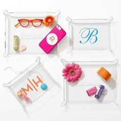 Find personalized jewelry trays and jewelry catchalls at Mark and Graham. Show off your jewelry on your vanity or dresser with a monogrammed jewelry tray. Trending Christmas Gifts, Christmas Gift For Dad, Unique Christmas Gifts, Holiday Gifts, Graham, Lucite Tray, Monogrammed Stationery, Monogram Gifts, Jewellery Storage