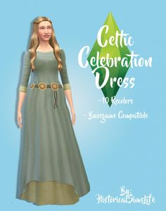 Celtic Celebration Dress by Anni K at Historical Sims Life • Sims 4 Updates