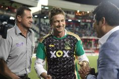 Gerard Butler attended the semifinal match between his  Jamaica Tallawahs and Barbados Tridents, August 23, 2013
