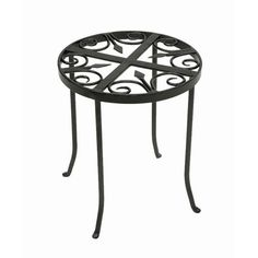 Round Trivet Wrought Iron Plant Stand Outdoor Plant Stands Plant Stands Accent Furniture