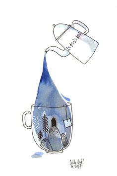 art acuarela underwater se laisse submerger e - art Abstract Watercolor, Watercolor Illustration, Watercolour Painting, Watercolors, Painting Inspiration, Art Inspo, Cecile, Doodle Art, Design Art