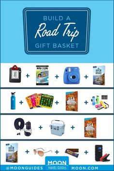 Looking for gifts for the road warrior in your life? From practical to cozy to just plain fun, these 15 ideas are perfect for building a road trip-themed gift basket that will help your loved one hit the open road in style. #giftguide #gifts #roadtrip