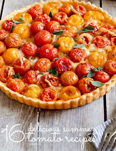 From gazpacho to fresh tomato tarts, there are countless ways to use tomatoes this summer. Here are our favorite seasonal tomato recipes. #tomatoes #summer