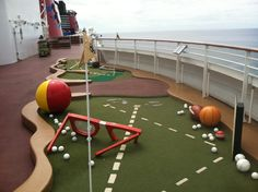 Kids and adults can enjoy this whimsy mini golf course