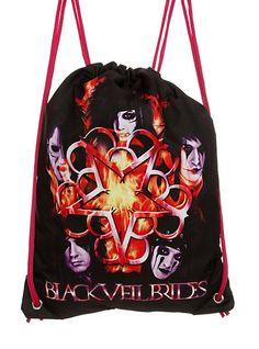 hot topic black veil brides | Black Veil Brides Gear Cinch Back Pack Gift Set SKU : 150833 $35.00 $ ...