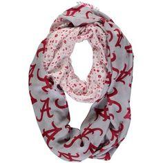 Women's ZooZatz Alabama Crimson Tide Split Floral Infinity Scarf