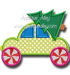CHRISTMAS CAR Applique Patterns, Applique Designs, 4x4, Machine Embroidery, Christmas Cards, Sewing, Toys, Appliques, Christmas E Cards