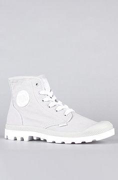 The Blanc Hi Sneaker in Vapor & White by Palladium.