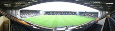 panoramic view of meadow lane, home of notts county fc, the oldest football league club in the world.