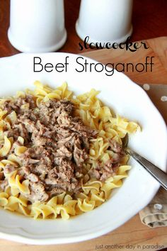 Slow Cooker Beef Stroganoff: Just Another Day in Paradise