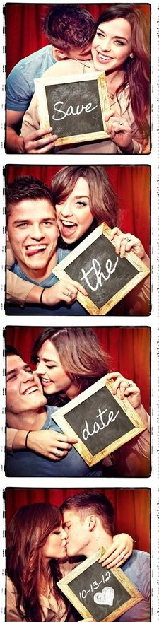 Photo booth save the date announcement! such a cute idea