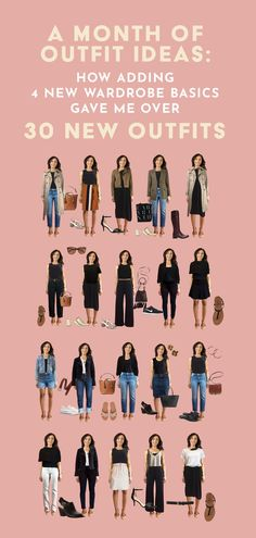 Here are 6 tips to help you make a month of outfits using basics! I added 5 new wardrobe staples to my closet from Encircled and made over 30 outfits for everything from backyard barbecues to going out for drinks. Capsule Wardrobe Work, Wardrobe Basics, New Wardrobe, Wardrobe Staples, Vegan Fashion, Slow Fashion, Fall Fashion, Fashion Ideas, Womens Fashion