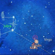 #saturn #mars #libra #virgo #nightsky #astrology #jyotish  http://yogaenergy.me/ytt/