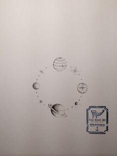 Planet Circle Tattoo Design  From Blue Whale Ink Design by _park_tae_  Work In Korea, Seoul, Hongdae Kakao: taemin0509 Insta: _park_tae_ Email: hopetaemin@naver.com Phone: 010.9922.2511