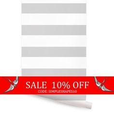 Sale  Horizontal Grey Peel & Stick Fabric Wallpaper by AccentuWall