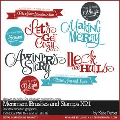 Merriment Brushes and Stamps No. 01 - #PhotoshopBrushes DesignerDigitals