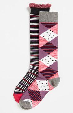 Nordstrom Knee High Socks (Toddler Girls, Little Girls & Big Girls) (2-Pack) available at #Nordstrom
