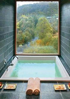 Square tub/gorgeous view
