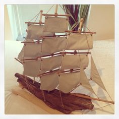 Custom made driftwood pirate ship  From the remnants of the old boscombe pier