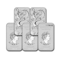 2019 Present Silver Bar Australia Perth Mint Lot Of Dragon Series Coin Bullion Coins, Gold Bullion, Mint Coins, Gold Coins, Silver Coins For Sale, Dragon Series, Coin Store, Year Of The Pig, Mint Gold