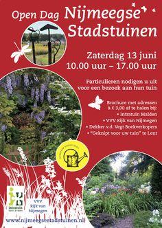 De Open tuinadressen zijn weer te herkennen aan de kleurrijke poster achter het raam!