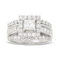 2 CT. Princess Cut Diamond Engagement Ring