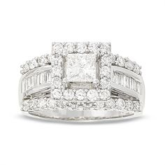 2 CT. Princess Cut Diamond Engagement Ring