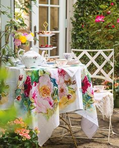 Tea on the veranda. Victoria Magazine