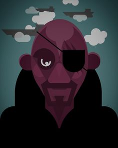 Here's s #nickfury built using the @assemblyapp. I love how I can finally build vector graphics on the go. I know #adobeideas is vector based but it's based on using a stylus or exporting to #illustrator.  With #assemblyapp it's just shapes that manipulate that allow you to combine into art work. It's also a great for fast prototyping. If only I COULD export to illustrator #lifegoals  #characterdesign #illustration #digitalart #marvel #shield