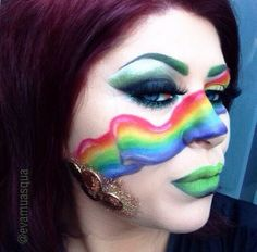 Rainbow with @Sugarpill Cosmetics Cosmetics #sugarpill