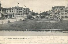 Antique American Postcards - New Jersey.  2nd ave. Asbury Park, NJ  1906