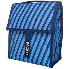 PackIt Freeze and Go Personal Cooler  Lunch Bag - Indigo Stripe. Pack Lunch in style.