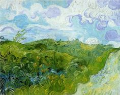 Vincent van Gogh, Green Wheat Fields, Auvers, I'd love a print of this; this is a Van Gogh I've yet to see. Art Van, Van Gogh Art, Vincent Van Gogh, Claude Monet, Van Gogh Pinturas, Van Gogh Paintings, Kunst Poster, Wheat Fields, National Gallery Of Art